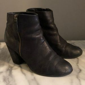 Black Slouchy Ankle Booties